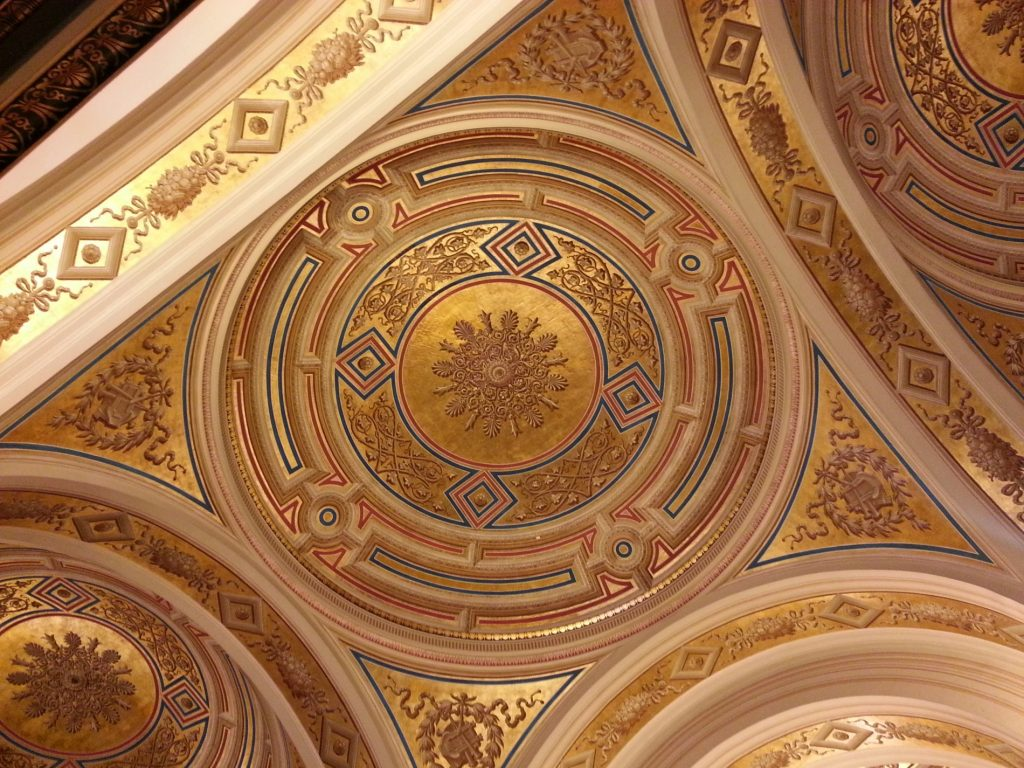 Ceiling in the entrance hall of Musikverein, Vienna